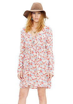 Denim & Supply Ralph Lauren Floral Print Bell Sleeve Dress
