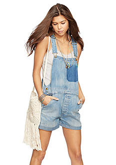 Denim & Supply Ralph Lauren Denim Roll-Cuff Shortalls