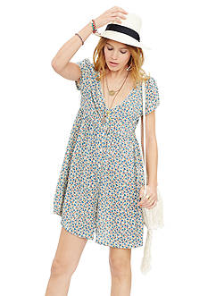 Denim & Supply Ralph Lauren Button Front Floral Dress