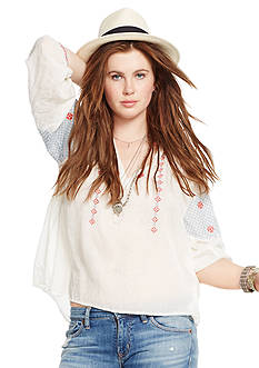 Denim & Supply Ralph Lauren Edita Embroidered Blouse