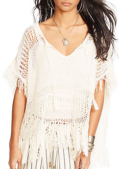 Denim & Supply Ralph Lauren Pointelle Fringe Pullover