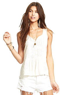 Denim & Supply Ralph Lauren Lace Trim Boho Tank