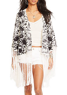 Denim & Supply Ralph Lauren Fringed Embroidered Shawl