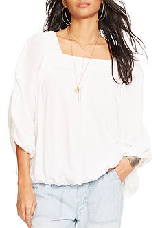 Denim & Supply Ralph Lauren Lace Trim Gauze Top