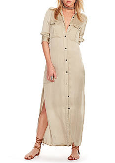 Denim & Supply Ralph Lauren Satin Military Shirtdress