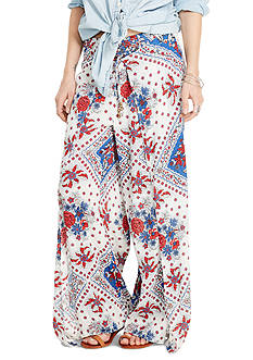 Denim & Supply Ralph Lauren Floral Cotton Smocked Pants