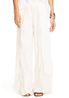 Denim & Supply Ralph Lauren Fringed Wide Leg Pants