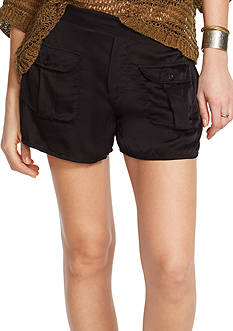 Denim & Supply Ralph Lauren Satin Buttoned-Pocket Short