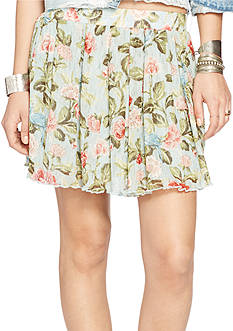 Denim & Supply Ralph Lauren Floral Mesh Miniskirt