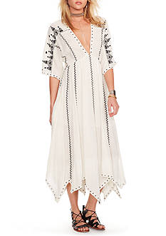Denim & Supply Ralph Lauren Grommet-Trim Gauze Dress
