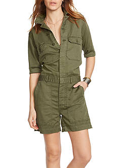 Denim & Supply Ralph Lauren Cotton-Linen Utility Romper