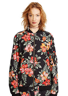 Denim & Supply Ralph Lauren Floral Bomber Jacket