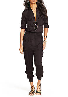 Denim & Supply Ralph Lauren Satin Utility Jumpsuit