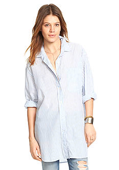 Denim & Supply Ralph Lauren Striped Oversize Shirt