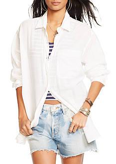 Denim & Supply Ralph Lauren Cotton Gauze Oversized Shirt