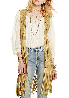 Denim & Supply Ralph Lauren Laser-Cut Suede Vest