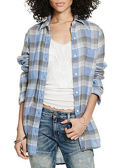Denim & Supply Ralph Lauren Plaid Boyfriend Shirt