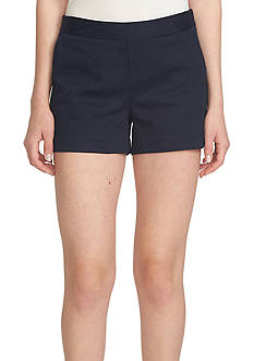 CeCe Solid Stretch Pique Shorts