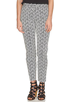 CeCe Printed Slim Pants