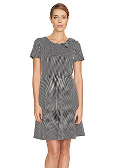 CeCe Dot Jacquard Knit Dress