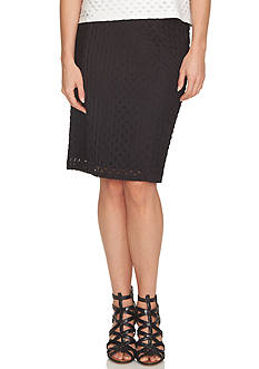 CeCe Daisy Jacquard Knit Skirt