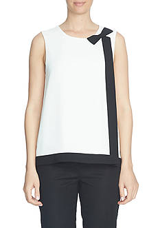 CeCe Sleeveless Bow Blouse