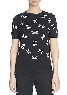 CeCe Intarsia Bow Icon Sweater