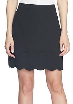 CeCe Scallop Edge Tiered Mini Skirt