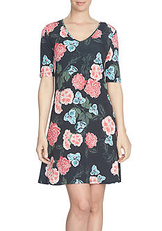 CeCe Floral Memoir Knit Dress