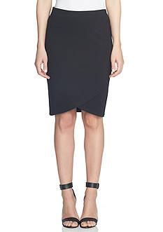 CeCe Ponte Envelope Skirt