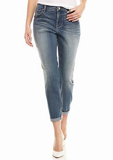 Nine West Jeans Alec Slim Boyfriend Ankle Jeans