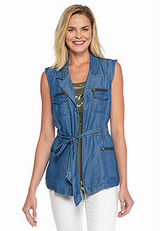 Nine West Jeans Natina Zip Vest