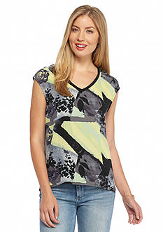 Nine West Jeans Alyssa 2Fer Sleeve Top