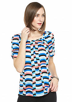 Kaari Blue™ Striped Bow Back Blouse