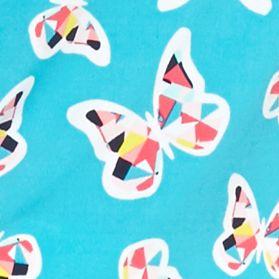Sleeveless Shirts For Women: Turquoise Kaari Blue™ Printed Tie Back Halter Top