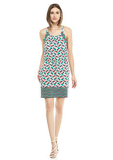Kaari Blue™ Drawstring Printed Dress