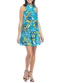 Kaari Blue™ Mock Neck Shift Dress