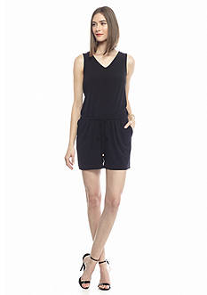 Kaari Blue™ Solid Sleeveless Back Tie Knit Romper