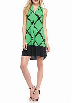 Kaari Blue™ Grid Print Shift Dress