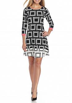 Kaari Blue™ Square Print Swing Dress