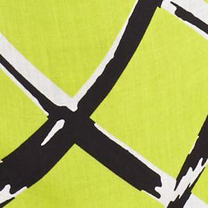 Plus Size Blouses: Lime Grid Kaari Blue™ Plus Size Lattice Print Woven Top