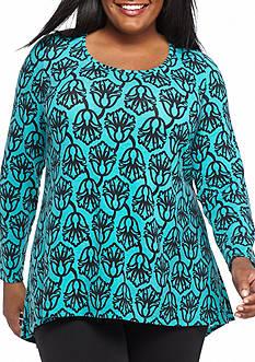 Kaari Blue™ Plus Size Zip Back Swing Tunic