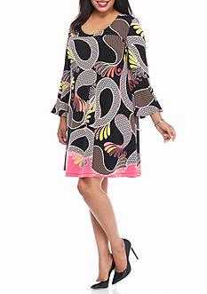 Kaari Blue™ Plus Size Printed Swing Dress