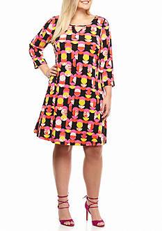 Kaari Blue™ Plus Size Three Quarter Sleeve Sheath Dress