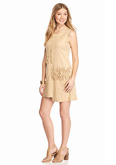 Romeo & Juliet Couture Faux Suede Fringe Dress