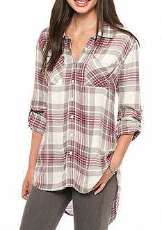 Red Camel Hilo Tunic Gingham Shirt