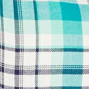 Plus Size Shirts for Juniors: Mint Plaid Red Camel Plus Size Plaid Peplum Top