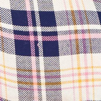 Plus Size Shirts for Juniors: Apricot Rub Plaid Red Camel Plus Size Plaid Peplum Top