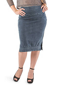 Standards and Practices Plus Size Kelly Knit Denim Skirt