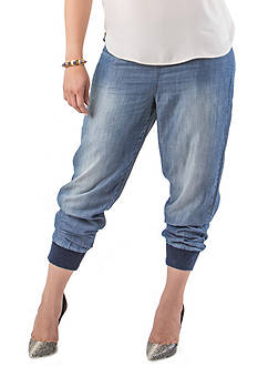 Standards and Practices Plus Size Button Front Jogger